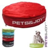 Katzenkissen Pet & Joy rot rund 60 x 10 cm Tierbett Kissen