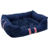 Hundebett mit Kissen blau 70 x 57 x 20 cm 2-tlg Hundekissen