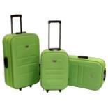 Koffer Set EVA Trolley 3-er Polyester in grün Reisekoffer