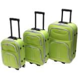 Koffer Set Trolley 3-er Polyester in hellgrün Reisekoffer