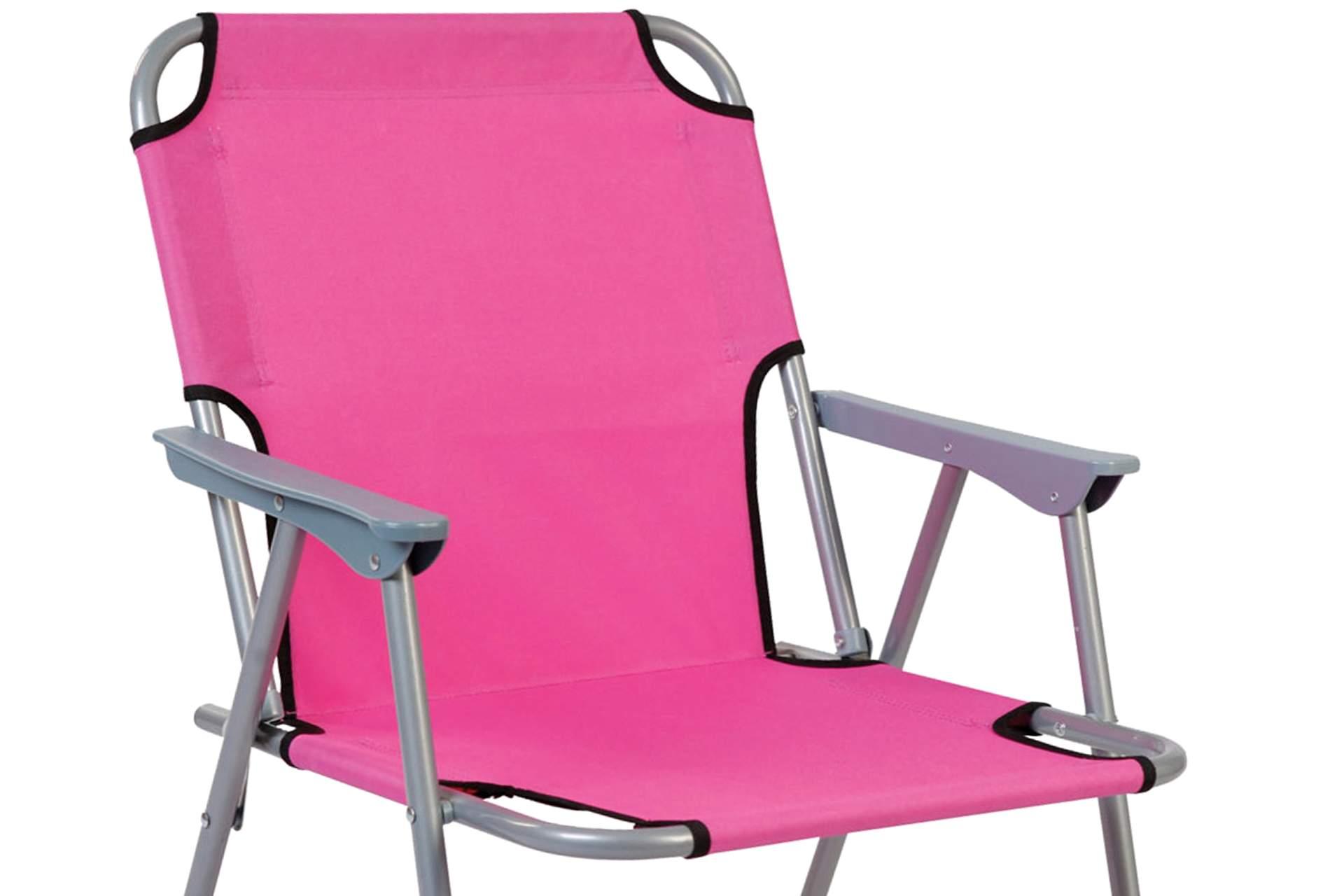klappstuhl oxford pink stoff bezug uni klappsessel camping. Black Bedroom Furniture Sets. Home Design Ideas
