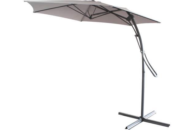 ampelschirm taupe 3 m sonnenschirm mit fuss schirm sonnenschutz sonne garten neu ebay. Black Bedroom Furniture Sets. Home Design Ideas
