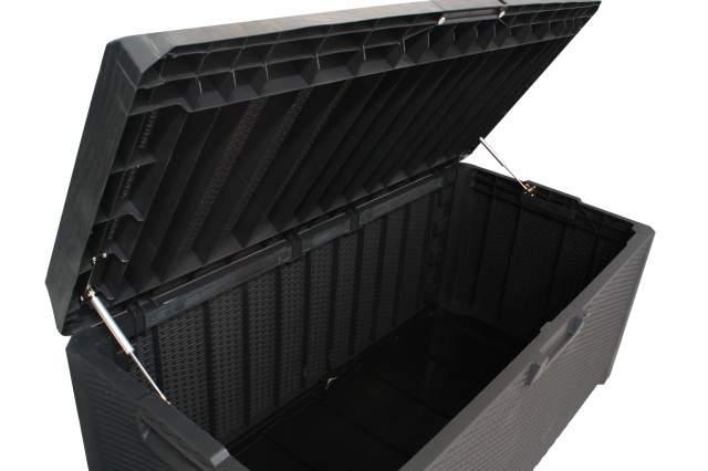 toomax santorini xxl auflagenbox anthrazit kissen auflagen garten truhe box neu. Black Bedroom Furniture Sets. Home Design Ideas