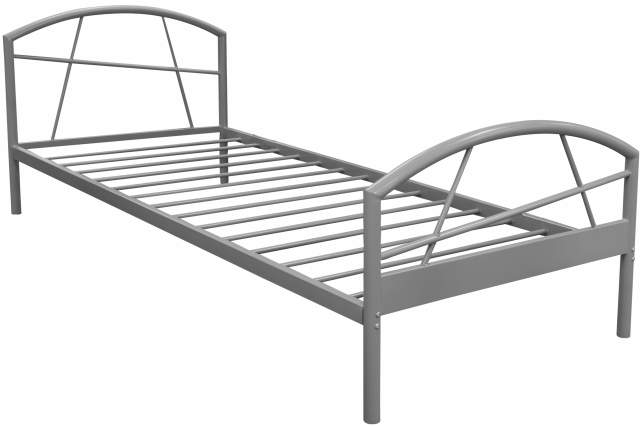 susi bettgestell 90 x 200 cm weiss aus metall metallbett. Black Bedroom Furniture Sets. Home Design Ideas