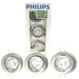 Philips Einbaustrahler Spot Set 3tlg. Alu gebürstet Rund