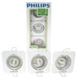 Philips Einbaustrahler Spot Set 3tlg. Weiss Eckig