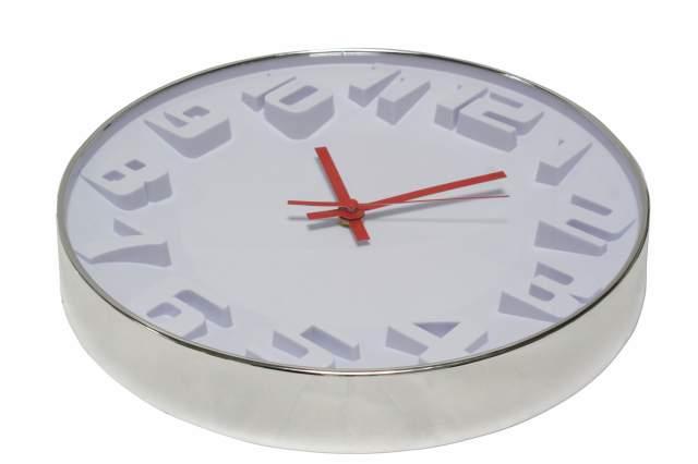 30 cm wanduhr wei rot quarz uhr k chenuhr b rouhr jung und modern modernart neu ebay. Black Bedroom Furniture Sets. Home Design Ideas