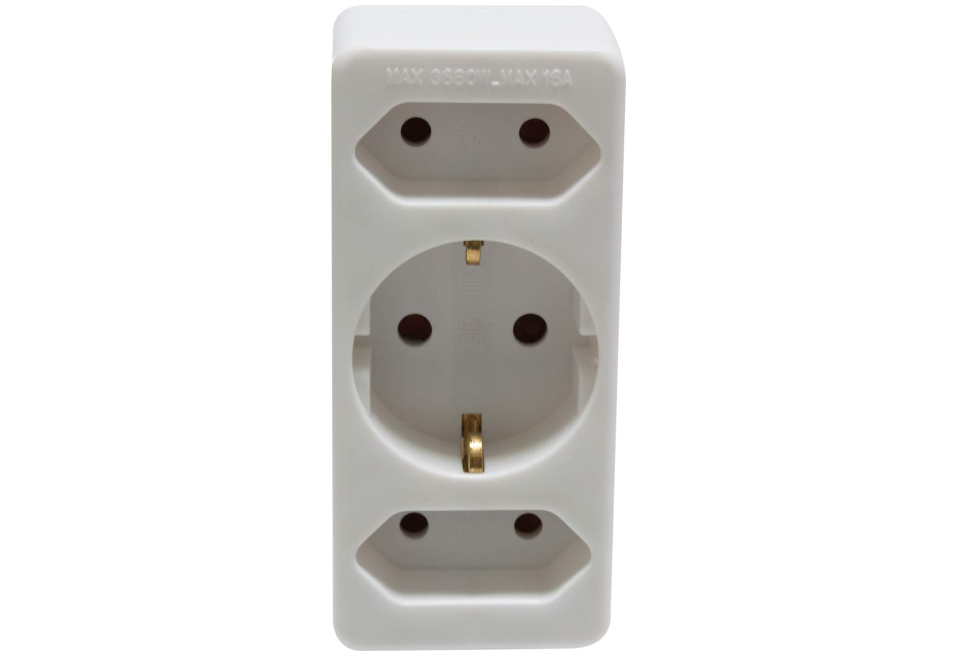 3fach stecker mit kindersicherung steckdose adapter strom schalter lichterkette ebay. Black Bedroom Furniture Sets. Home Design Ideas