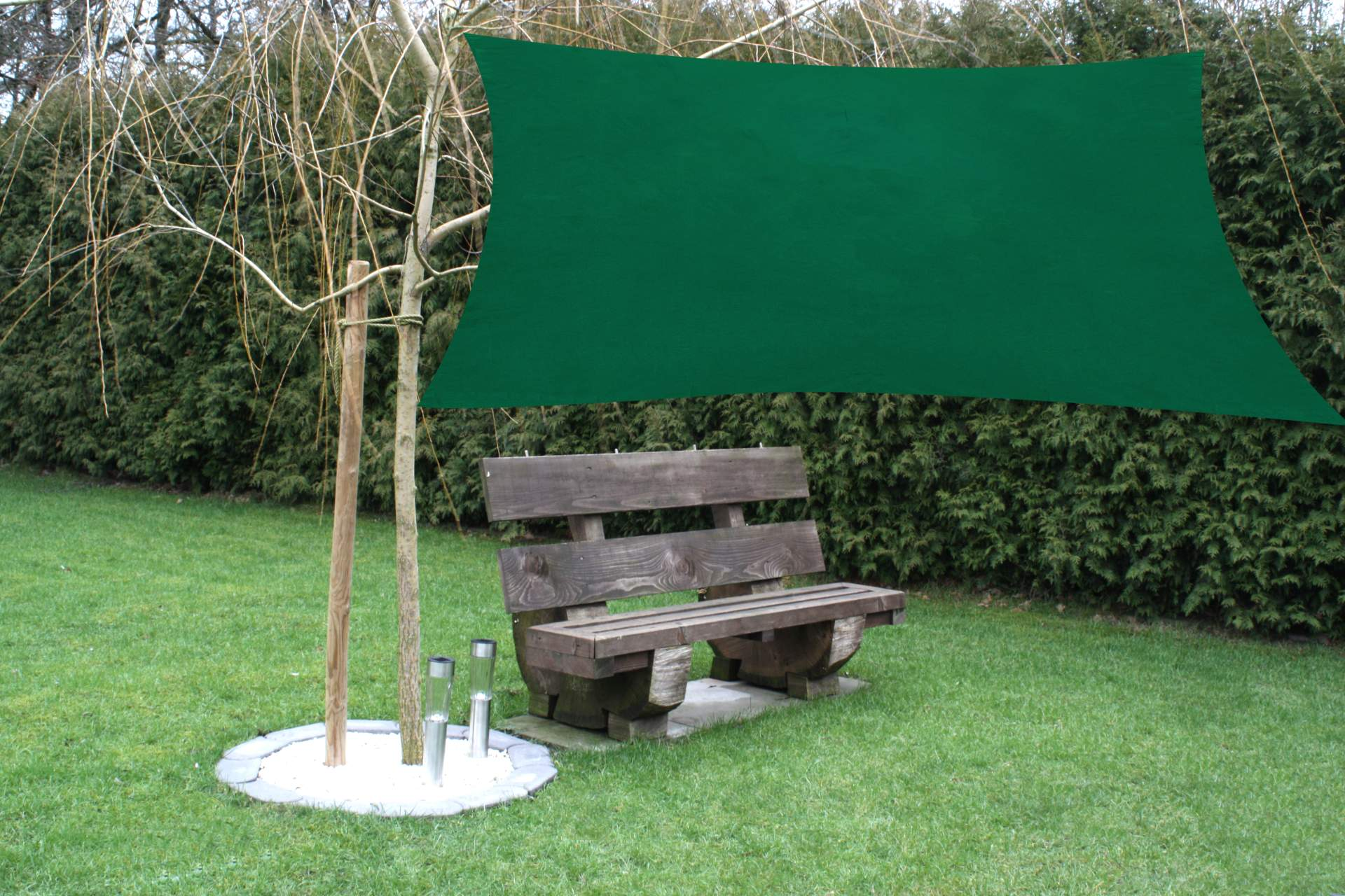sonnensegel gr n quadratisch 3 6 x 3 6 m sonnendach. Black Bedroom Furniture Sets. Home Design Ideas