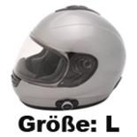 Motorrad Roller Integral Helm mit Bluetooth  Größe L Silber