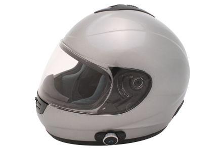 integralhelm mit bluetooth gr xl silber helm mofa roller. Black Bedroom Furniture Sets. Home Design Ideas